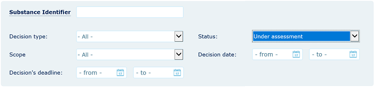 Filter for evaluation status